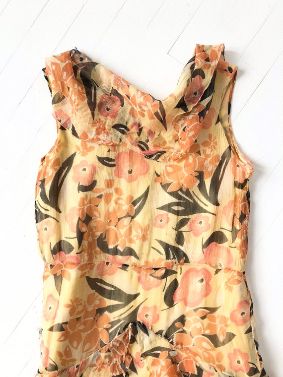 1930s Floral Silk Chiffon Dress AS IS - image 6