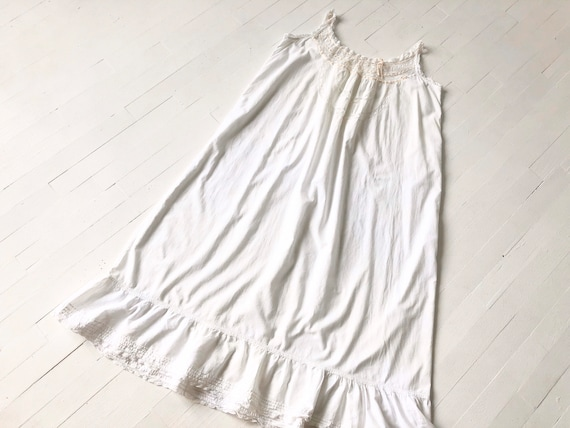 Antique Edwardian Lace Cotton Nightgown