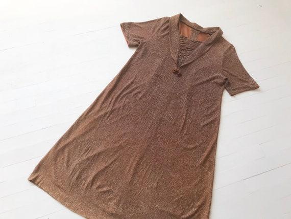 1940s Metallic Dress