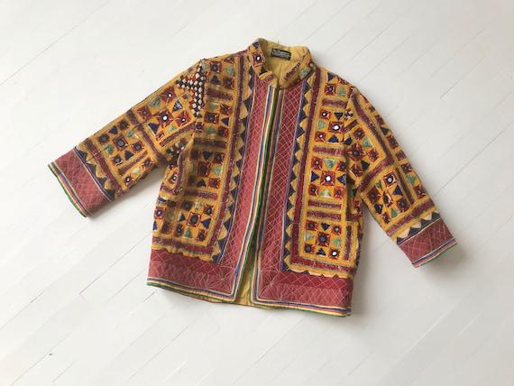 1970s Embellished Indian Cotton Jacket