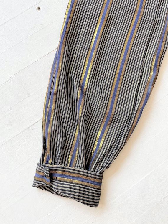 1970s Adini Metallic Striped Pants - image 4