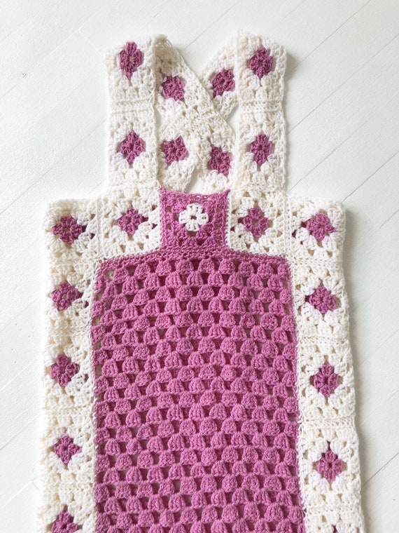 1970s Lilac Crochet Dress - image 2