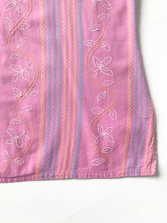 Vintage Lilac Embroidered Blouse - image 4
