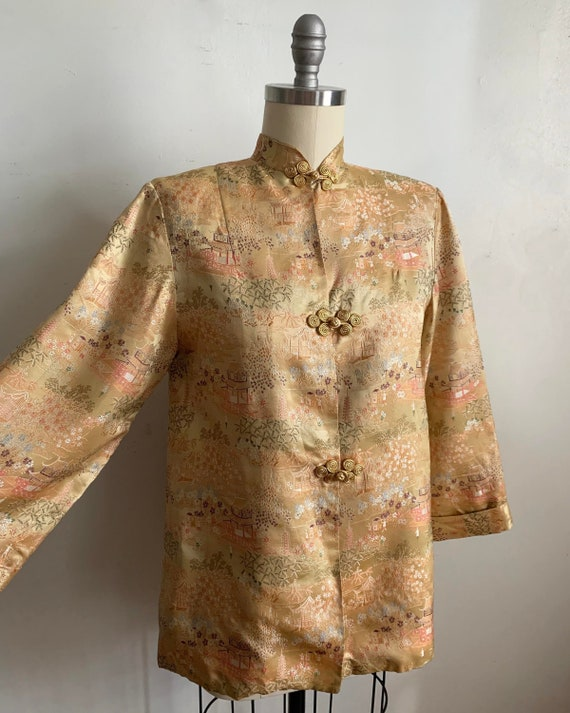 1960s Gold Brocade Chinoiserie Jacket