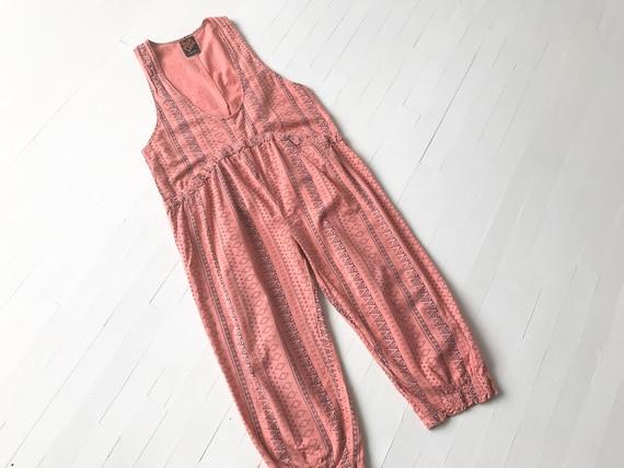 1990s Dusty Pink Geometric Jumpsuit
