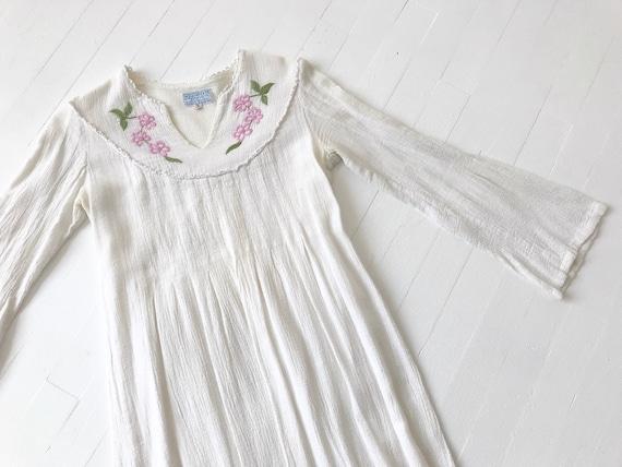 1970s Indian Cotton Gauze Dress