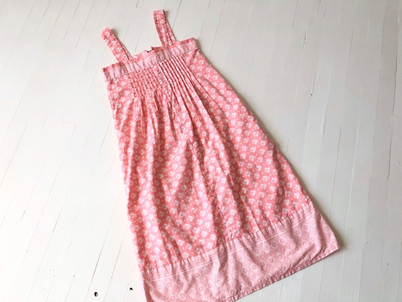 1980s Ramona Rull Pink Printed Cotton Dress - image 2