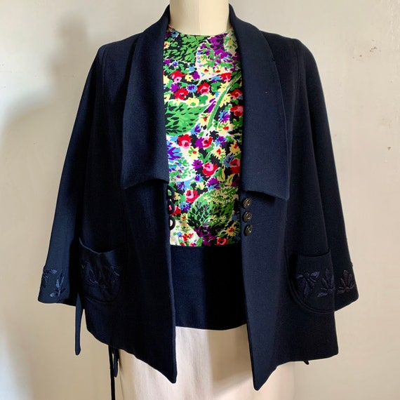 1940s Embroidered Swing Jacket - image 3