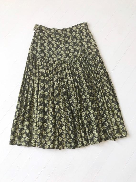 1990s Escada Rayon Floral Skirt - image 5