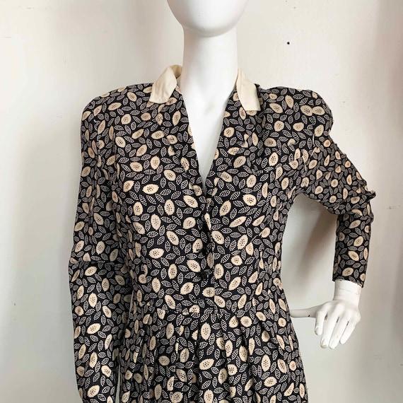 Ted Lapidus Wool Leaf Dress - image 2