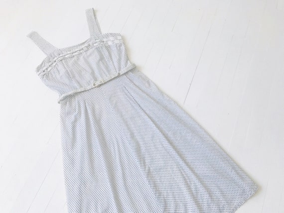 1950s Dotted Cotton Sundress