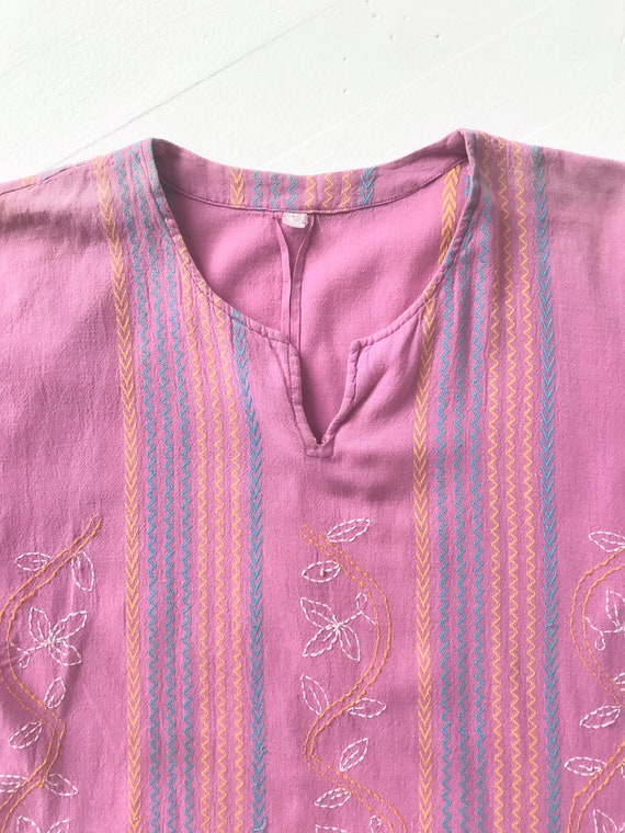 Vintage Lilac Embroidered Blouse - image 2