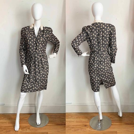 Ted Lapidus Wool Leaf Dress - image 1