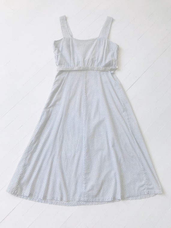 1950s Dotted Cotton Sundress - image 5