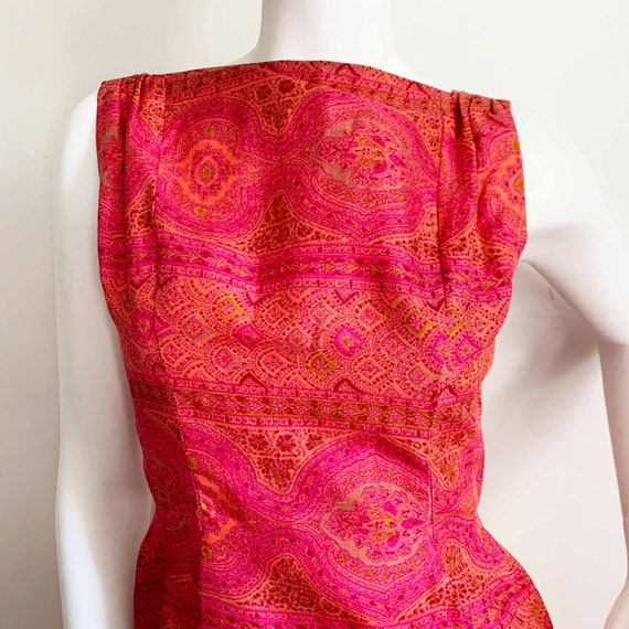 Early 1960s Paisley Silk Suzy Perette Dress