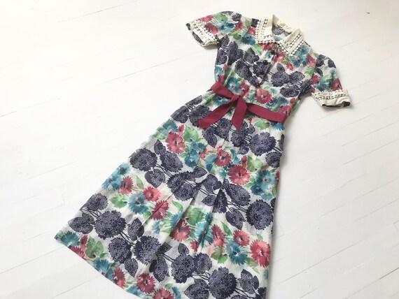 1930s Floral Print Dress