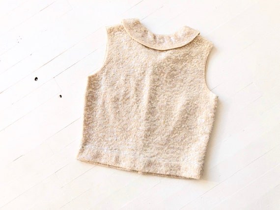1960s Wool Sequin Top