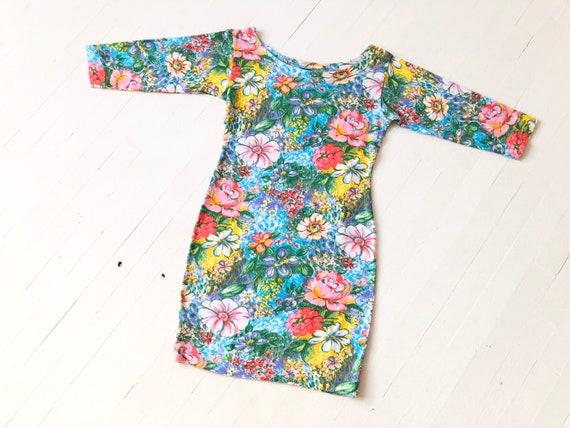 1980s Kenzo Floral Knit Minidress