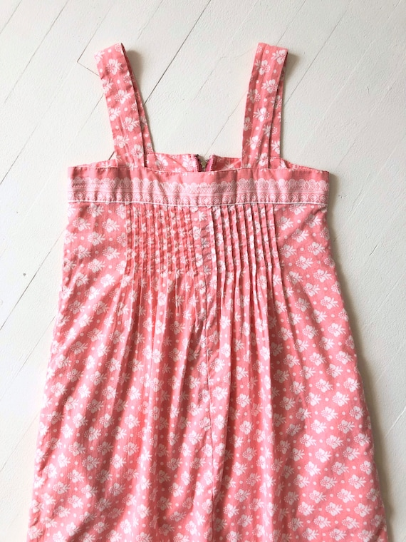 1980s Ramona Rull Pink Printed Cotton Dress - image 3