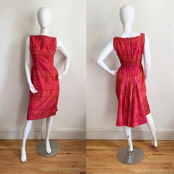 Early 1960s Paisley Silk Suzy Perette Dress - image 5
