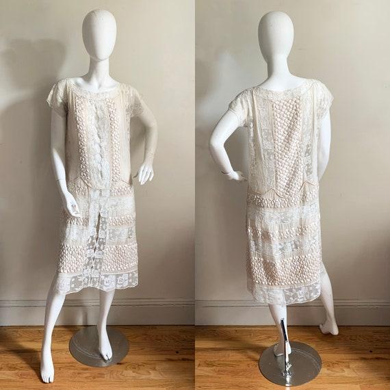 Exquisite Antique Lace Dress