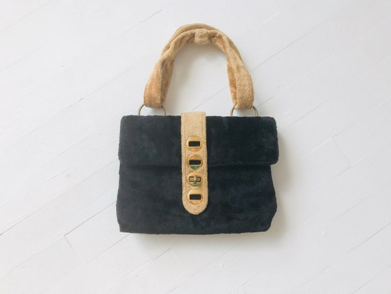 1960s Textured Top Handle Bag