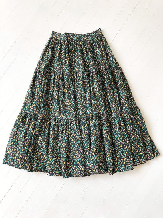 1970s Tiered Novelty Print Skirt - image 3
