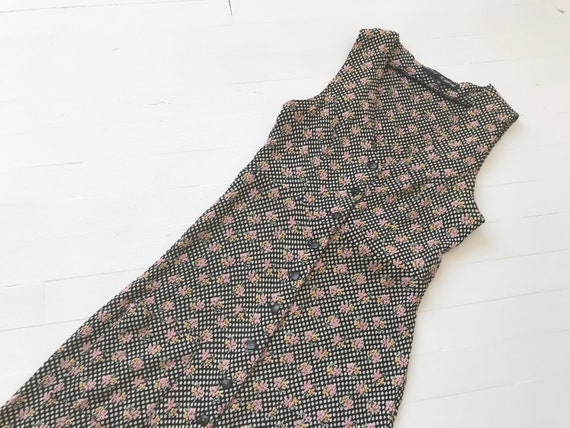 Vintage 1990s Betsey Johnson Dotted Floral Maxi Dr