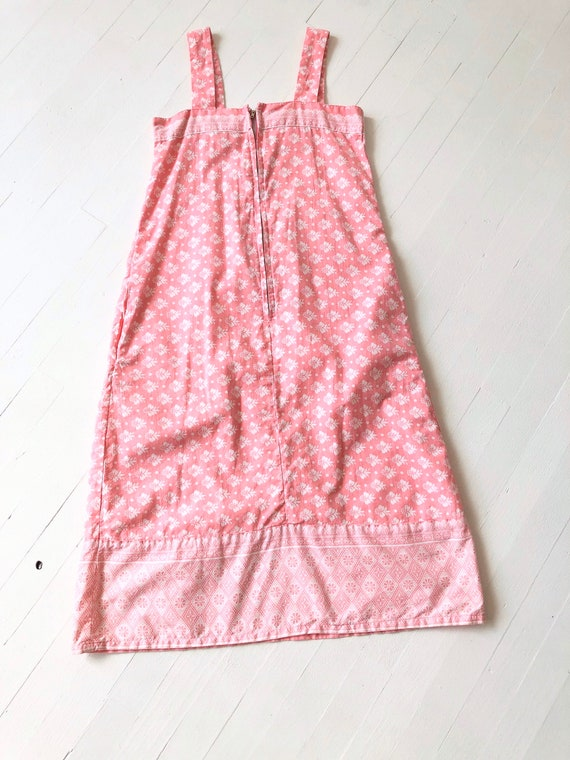1980s Ramona Rull Pink Printed Cotton Dress - image 6