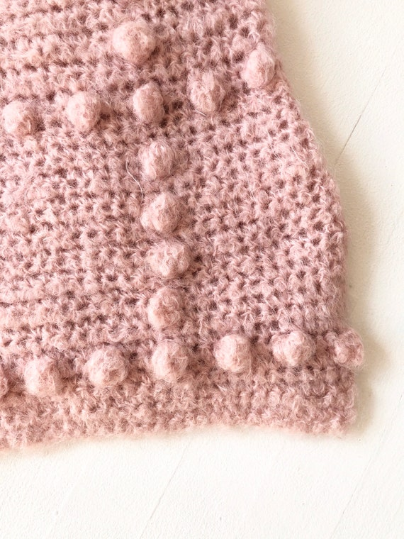 Vintage Dusty Pink Popcorn Knit Sweater - image 4