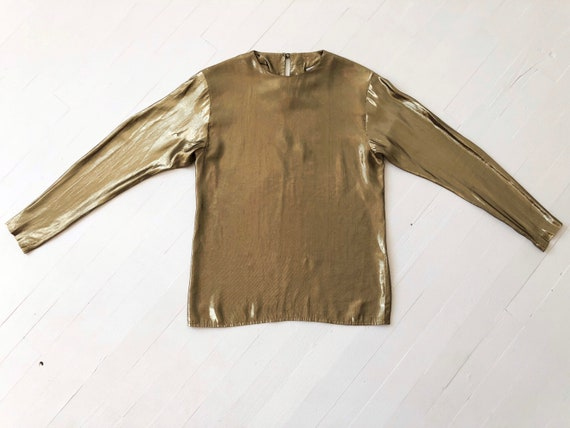 1980s Gold Lamé Top