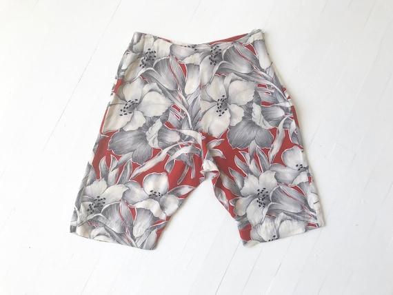 1980s Norma Kamali Printed Shorts