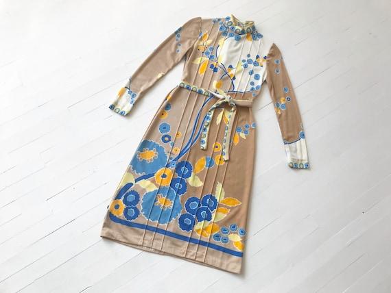 1970s Paganne Printed Dress