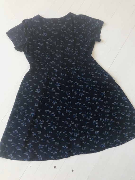 1940s Navy Floral Dress - image 5