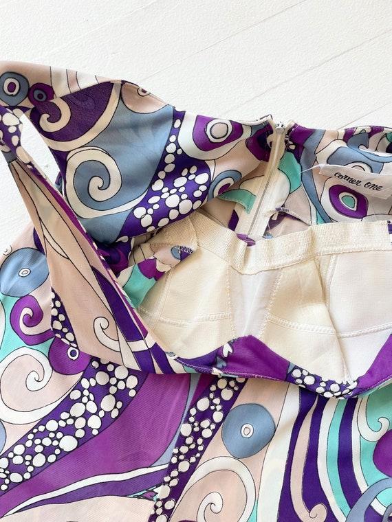 1970s Purple + Blue Pucci-esque Jumpsuit - image 6