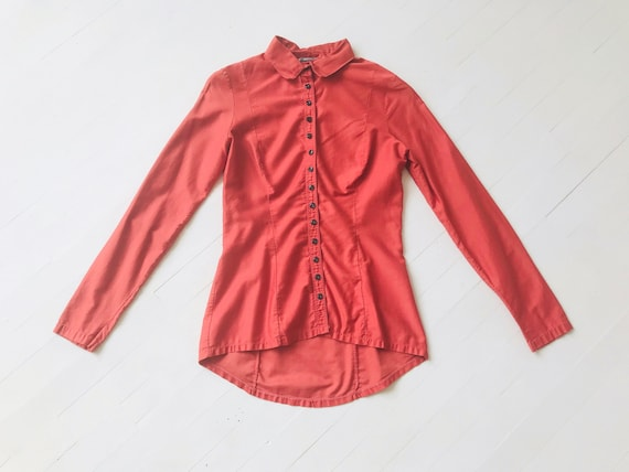 1970s Betsey Johnson Alley Cat Coral Shirt - image 5
