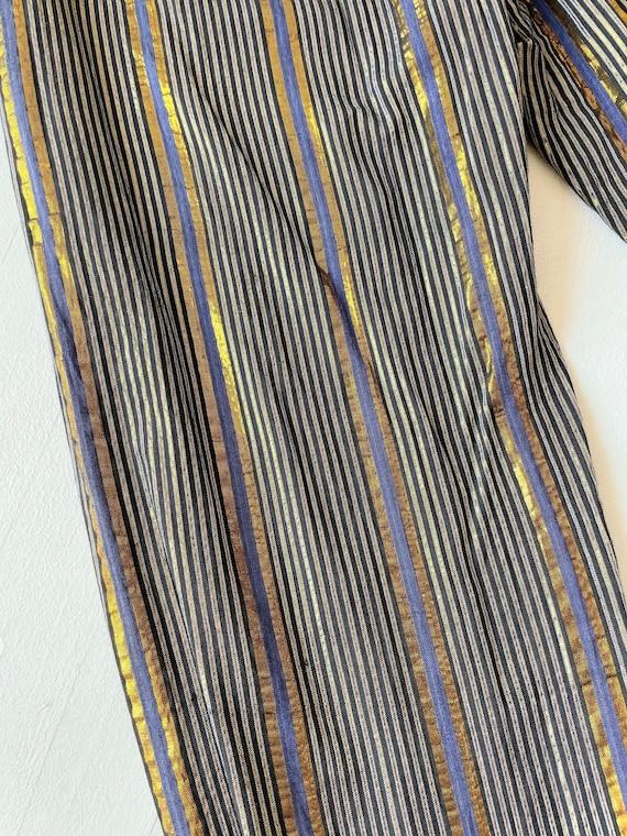 1970s Adini Metallic Striped Pants - image 6