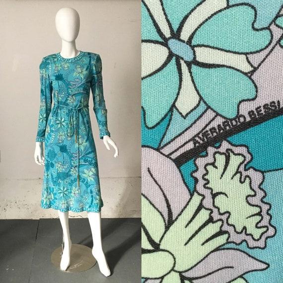 Averardo Bessi Mint Silk Botanical Dress