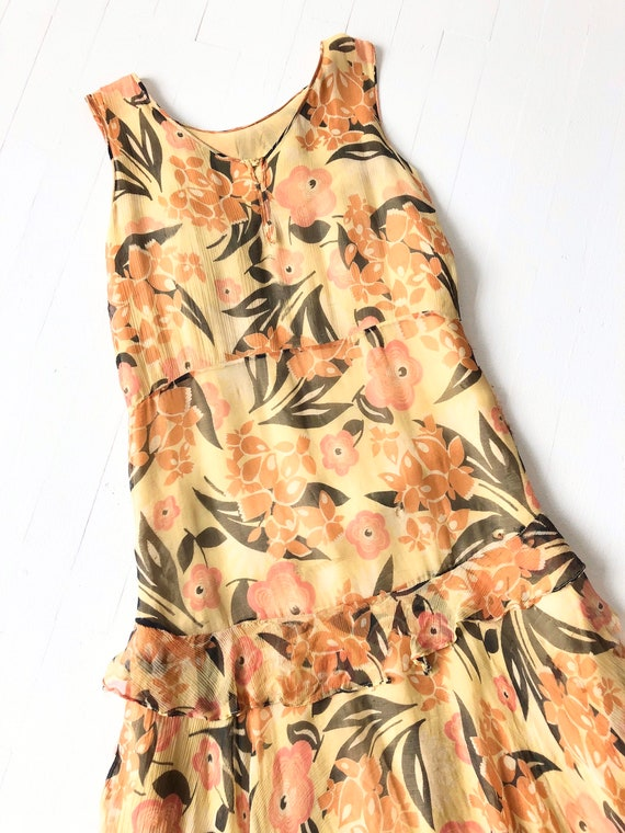 1930s Floral Silk Chiffon Dress AS IS - image 2