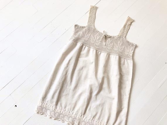 Antique Victorian Crochet Cotton Camisole