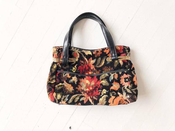 Vintage Floral Tapestry Bag