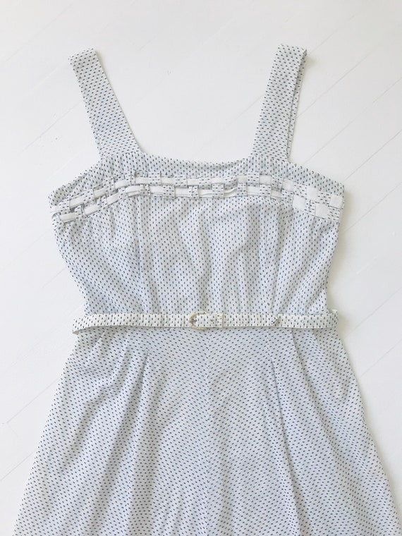 1950s Dotted Cotton Sundress - image 2