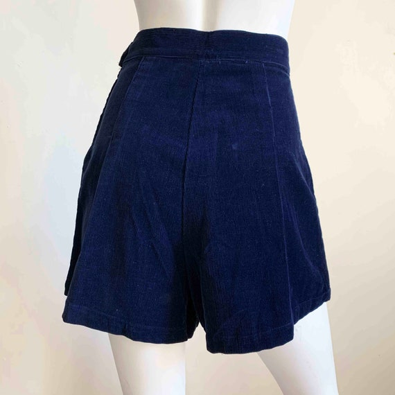 1950s Deadstock Navy Corduroy Shorts