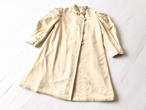 Antique Edwardian Embroidered Soutache Coat
