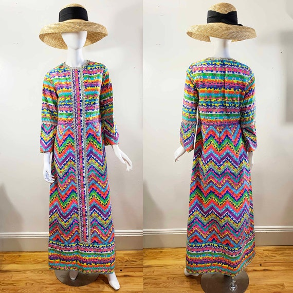 1960s Lilly Pulitzer Neon Caftan