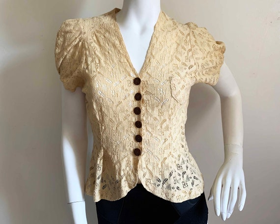 1930s Lace Blouse