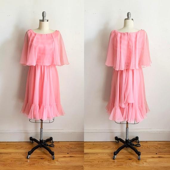 1970s Mollie Parnis Boutique Bubblegum Dress
