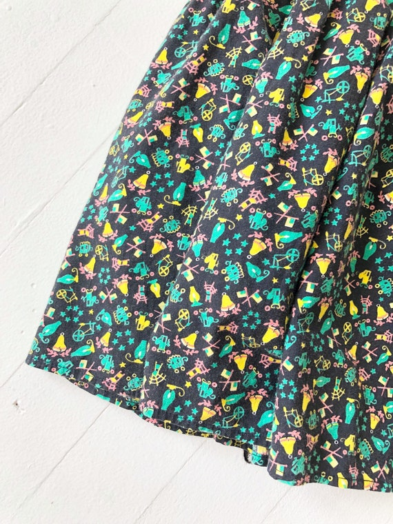 1970s Tiered Novelty Print Skirt - image 2