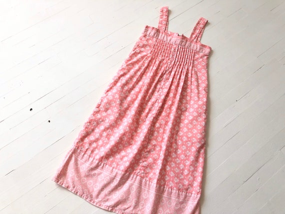 1980s Ramona Rull Pink Printed Cotton Dress - image 8