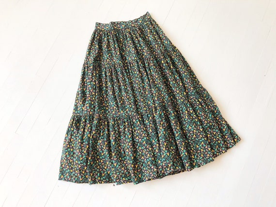 1970s Tiered Novelty Print Skirt - image 1